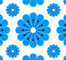 "Retro 1970s Geometric Print ""Flowers 2""  Sticker"