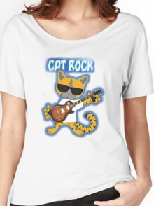Cat Rock Guitar Clear Background Women's Relaxed Fit T-Shirt
