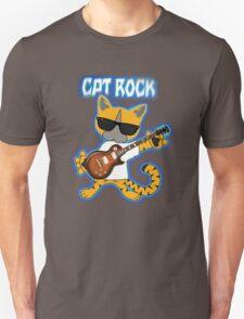 Cat Rock Guitar Clear Background Unisex T-Shirt