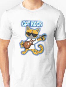 Cat Rock Guitar Clear Background T-Shirt