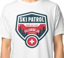 Telluride Colorado Skiing Ski Patrol Mountain Art Classic T-Shirt