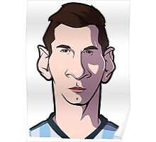 Messi Caricature Poster