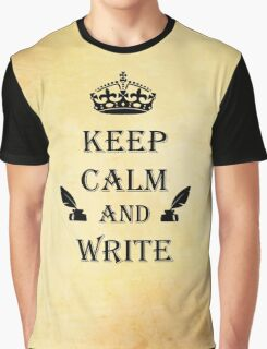 Keep Calm and Write Graphic T-Shirt