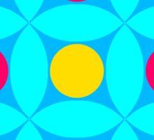 "Retro 1970s Geometric Print ""Circles 1""  Sticker"