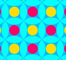 "Retro 1970s Geometric Print ""Circles 1""  by Fotopia"