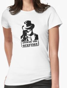 Answer the question Womens Fitted T-Shirt