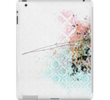 Texture with grunge and a stroke iPad Case/Skin