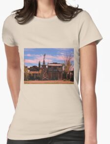 Old Southwestern Ghost Town Womens Fitted T-Shirt