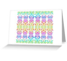 Japanese Funhouse Circus Explosion Greeting Card