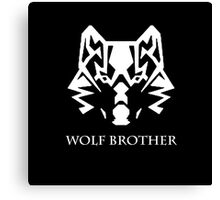 Wolf Brother (White) Canvas Print