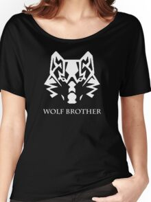 Wolf Brother (White) Women's Relaxed Fit T-Shirt