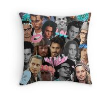 Johnny Depp Collage Throw Pillow