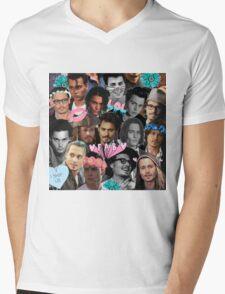Johnny Depp Collage Mens V-Neck T-Shirt