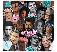 Johnny Depp Collage Poster
