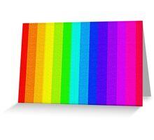 Cross-stitch Rainbow Pattern Greeting Card
