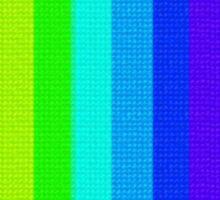 Cross-stitch Rainbow Pattern Sticker