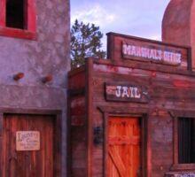 Old Western Street Scene Sticker