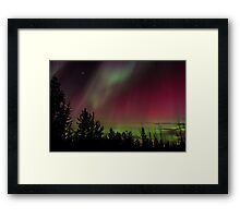 Northern Lights in red Framed Print