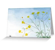 Simple Flowers - Watercolor Painting Greeting Card