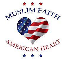 Muslim Faith, American Heart Photographic Print