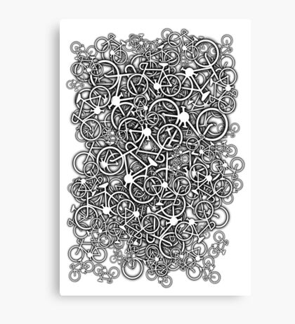 Tangled Up In Bicycles Canvas Print