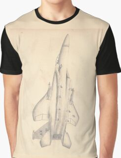 McDonnell Douglas F-15 Eagle Drawing Graphic T-Shirt