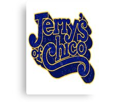 Jerry's of Chico 1970s Style Logo Canvas Print