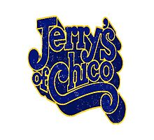 Jerry's of Chico 1970s Style Logo Photographic Print