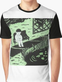 Solitude in Green Graphic T-Shirt
