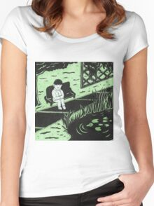 Solitude in Green Women's Fitted Scoop T-Shirt
