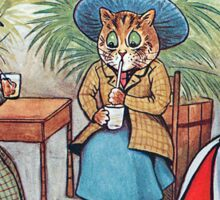 Louis Wain - Three Cats Wearing Hats Sticker