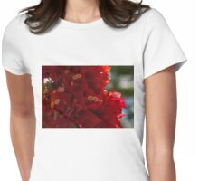 My Fabulous Tropical Valentines Gift - Vivid Red Bougainvillea Womens Fitted T-Shirt