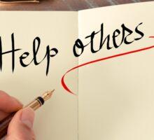 Help Others Sticker