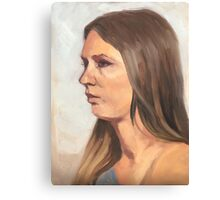 Portrait sketch of Aimee Canvas Print