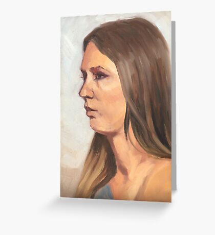 Portrait sketch of Aimee Greeting Card