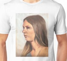 Portrait sketch of Aimee Unisex T-Shirt