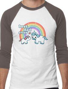 Best Unicorn Dad Men's Baseball ¾ T-Shirt