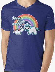 Best Unicorn Dad Mens V-Neck T-Shirt