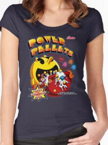 Power Pellets Women's Fitted Scoop T-Shirt
