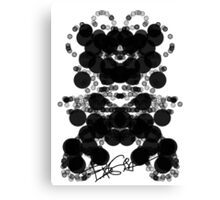 Black Bubbles Dog by RegiaArt Canvas Print