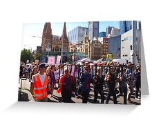 Walk for justice for refugees Greeting Card