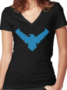 NightwingDing Women's Fitted V-Neck T-Shirt