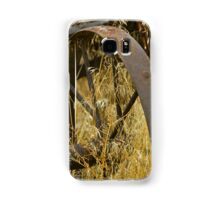 Rusty Old Wheel and Yellow Grasses Samsung Galaxy Case/Skin