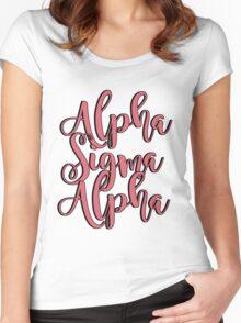Alpha Sigma Alpha Women's Fitted Scoop T-Shirt