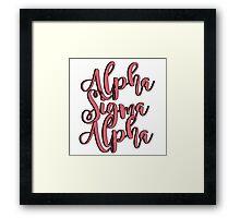 Alpha Sigma Alpha Framed Print