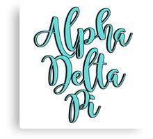 Alpha Delta Pi Canvas Print