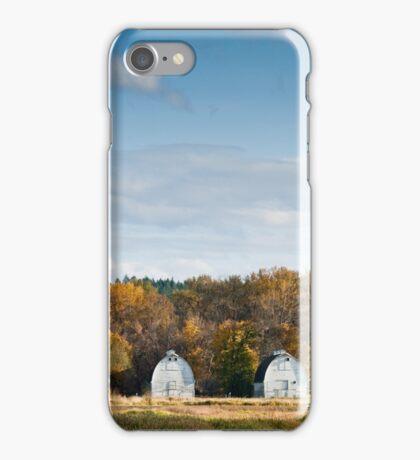 Twin Barns in the Fall iPhone Case/Skin