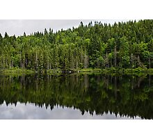 Still Forest Lake Reflections - Charlevoix, Quebec, Canada Photographic Print