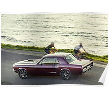 Adrian Morton's Ford Mustang Coupe Poster