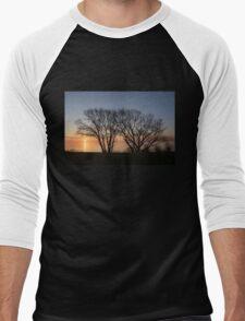 November Sunrise on Lake Ontario in Toronto, Canada  Men's Baseball ¾ T-Shirt